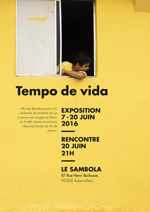 poster grande taille de l'exposition photographique tempo de vida